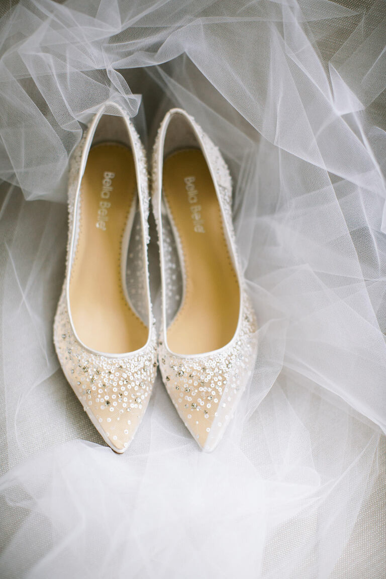 Pointed Toe Illusion and Rhinestone Crystals Bridal Wedding Shoes | Luxurious Tampa Bay Wedding Planner Parties A'la Carte