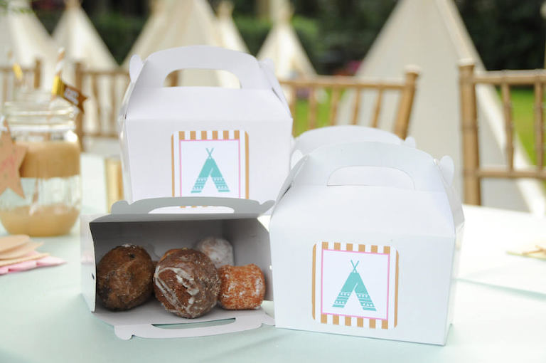 Donut Hole Party Favors in Custom Box | Tampa Bay Children's Birthday Party and Social Event Planner Parties A La Carte