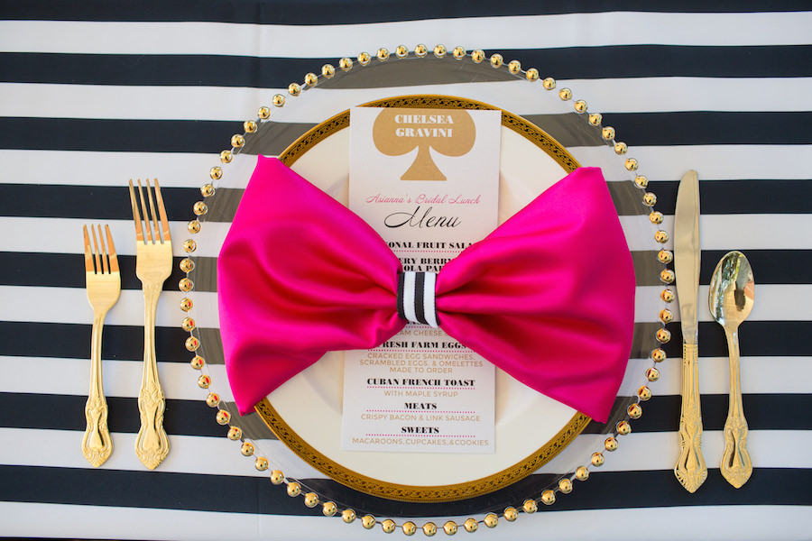 black white and pink kate spade inspired bridal wedding shower tampa bay event planner